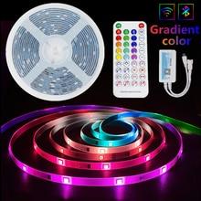 Luzes de tira conduzidas rgb 5050 impermeável lâmpada flexível fita diodo bluetooth sonho cor luces led 5m10m dc12v controle de música para sala
