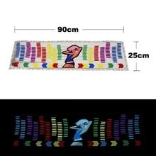 Car Sticker Music Rhythm LED Jump Flash Light Lamp Car Rear Windshield Sound Activated Equalizer Decorative Light Styling 12V