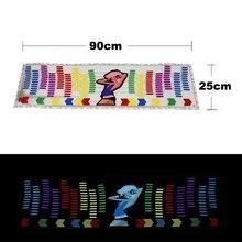 자동차 스티커 음악 리듬 LED 점프 플래시 라이트 램프 자동차 후면 윈드 실드 사운드 활성화 이퀄라이저 장식 조명 스타일링 12V