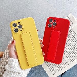 Image 2 - Coque de téléphone en Silicone liquide avec dragées, couleur bonbon, pour iPhone 12 Pro Mini 11 Pro Max X XR XS Max 7 8 Plus SE 2020