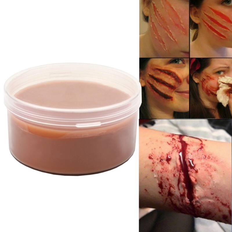 50g Lifelike Makeup Wax For Special Effects Theatrical Makeup And Halloween Fun Themed Party  Fake Scar Wound Skin Wax