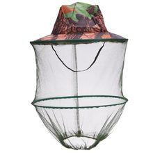 Camouflage Fishing Hat Bee keeping Insects Mosquito Net Prevention Cap Mesh Fishing Cap Outdoor Sunshade Lone Neck Head Cover 2020 fishing cap anti mosquito insect hat fishing hat bug mesh head net face protector camping hats fishing cap outdoor