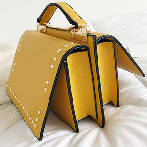 Image 4 - Luxury Handbags Women Bag Designer Crossbody Bags Small Rivet Double Sided Open Shoulder Messenger Bag Women Purses Black Tote