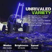 2021 pour SUV ATV UTV RZR Led drapeau américain lumières rvb changement de couleur hors route Dune Buggy Led mât de signalisation lumières 3FT 4FT 5FT 6FT en option