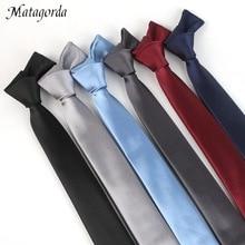 Matagorda High Quality Necktie Man Tie 1200 Pin Density Silk Solid Color 5cm Slim Wedding Bridegroom Gifts Gravata