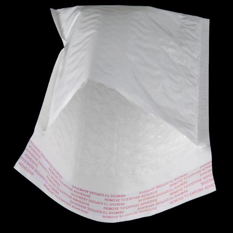 50pcs / 11 * 13cm + 3.5cm White Bubble Envelope Film Pearl Shockproof Stationery Accessories 3