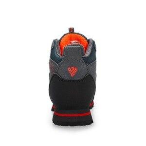 Image 4 - Zapatos de Montañismo hombre impermeable y antideslizante deportes resistente al desgaste cuero masculino Permeable ocio turístico y fácil montaña