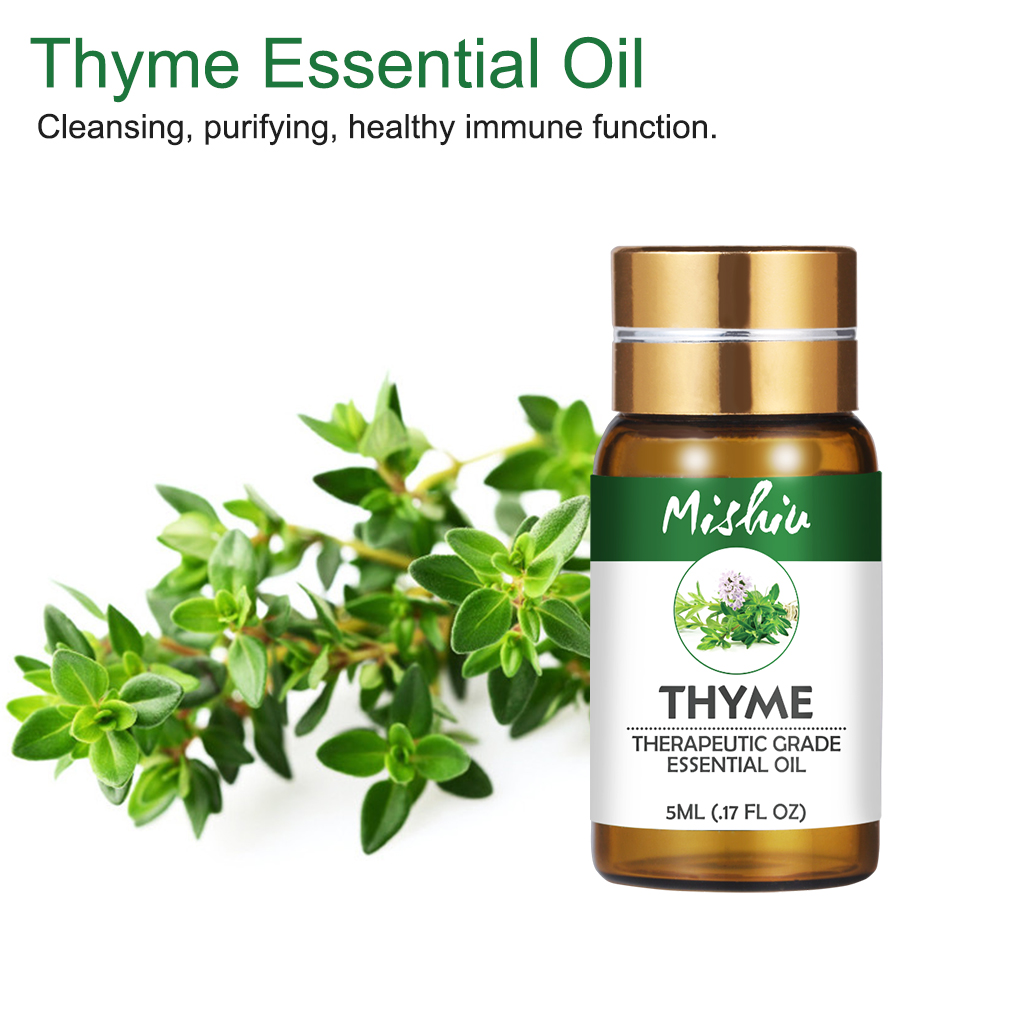 Mishiu 5ML 100%Pure Thyme Essential Oil Cleansing,Purifying,Healthy Immune Function Water-soluble Relax Fragrance Skin Care