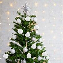 12 pçs branco bolas de natal decorações de natal pendurado pingentes decorações da árvore de natal ornamentos de suspensão natal ano novo
