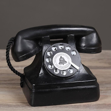 Modelo de teléfono decorativo Retro creativo grande, estatuilla de teléfono antigua de la decoración del teléfono rotatorio de la vendimia para el Bar del café
