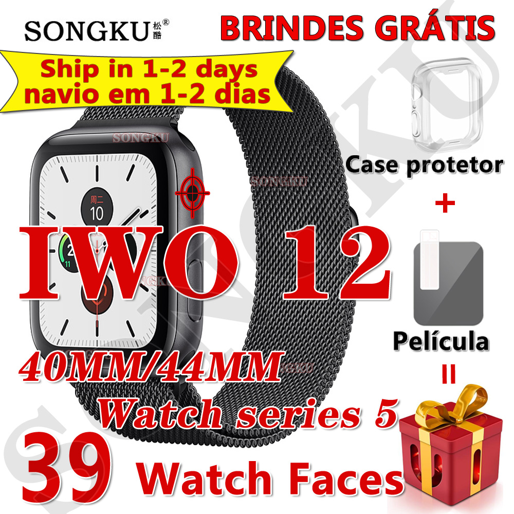 SONGKU smartwatch IWO 12 Pro Watch series 5 Smart Watch 40MM 44MM Bluetooth watch for apple iPhone Android phone PK IWO MAX 13(China)