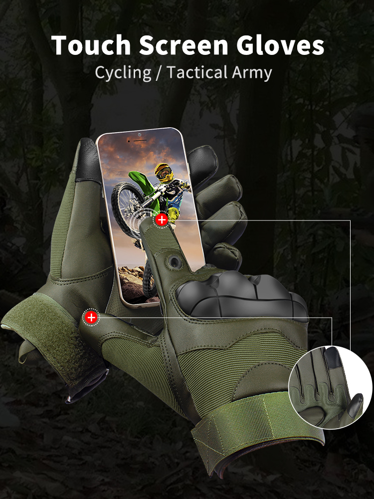 Tactical-Gloves Driving Knuckles Moto-Bike Touch-Screen Army Military Women Winter Full-Finger