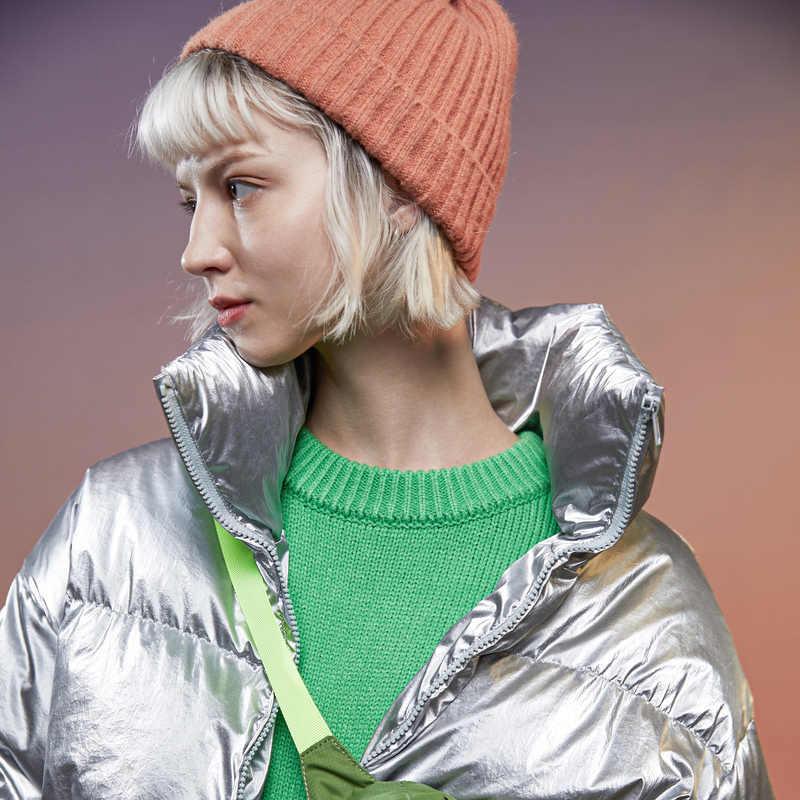 Metersbonwe Nieuwe Donsjack Vrouwen Winter Draagbaarheid Warm 80% Witte Eendendons Cool Girl Jas Kleurrijke Punk Winter Down Jas