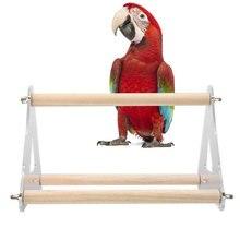 Parrot Pet треугольная лестница акриловая подвесная стойка игрушка деревянные качели рамка платформа Parakeet ветка perches птица аксессуары