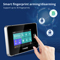 Fuers 4.3 Inch TFT Screen alarm WIFI GSM Smart Home Burglar Security Alarm System Tuya Smart life APP Control Smoke Door Sensor