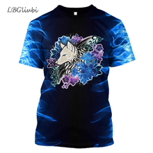 new 3D printed wolf totem T-shirt men and women fashion casual sports shirt Harajuku short-sleeved hip hop