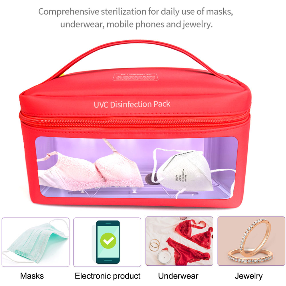 Portable UV Sterilizer Bag Ultraviolet Disinfection Storage Bag Ozone Sterilization for Mask/Baby Bottle/ Underwear/Toothbrush