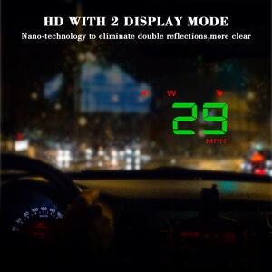 Image 5 - A5 범용 자동차 GPS HUD 헤드 디스플레이 속도계 디지털 오버 스피드 경고 윈드 실드 자동 탐색 진단 도구
