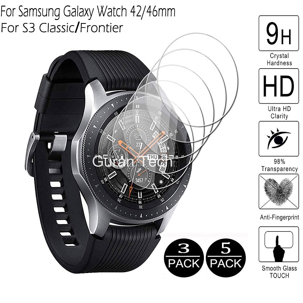 For Galaxy Watch 46mm 42mm Tempered Glass For Samsung Gear S3 Classic Frontier Screen Protector Protective Glass Films