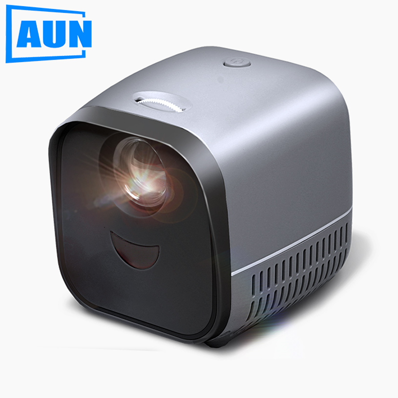 AUN Super MINI projektor L1, system multimedialny do rozwiertaka wideo 1080P, interakcja dziecięca wysokiej klasy prezenty, str