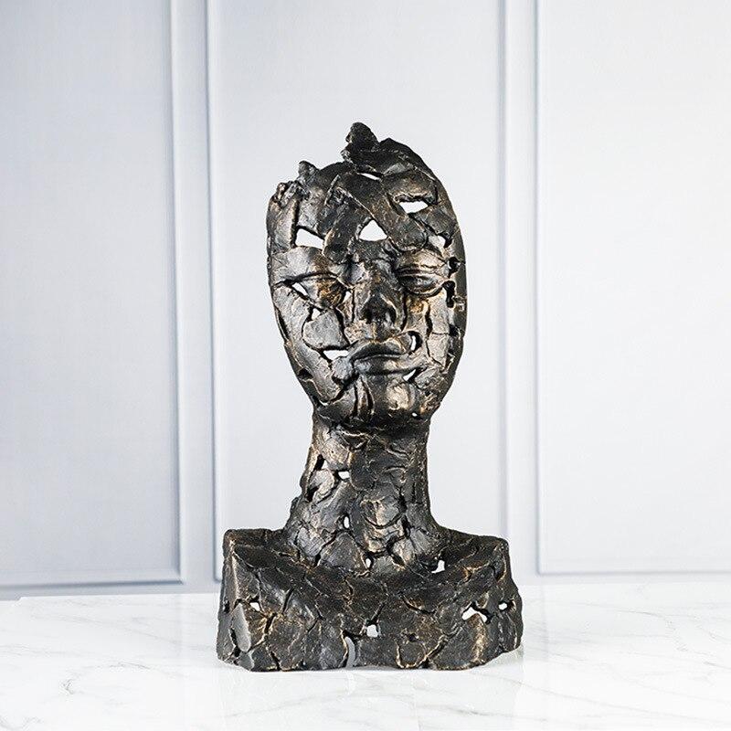 Demi corps Figure Sculpture européenne créative hôtel Club Art décoration Sculpture artisanat Statues pour la décoration