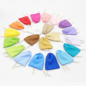 Image 1 - 50PCS Washed Velvet Pouch Jewelry Packaging Bag Cosmetic Storage Wedding Party Gift Soft Cloth Drawstring Bags Custom Logo Print