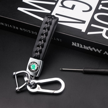 Keyring Key-Chain Logo Superb Kodiaq Octavia Skoda Car-Stlying Metal Fashion for Fabia