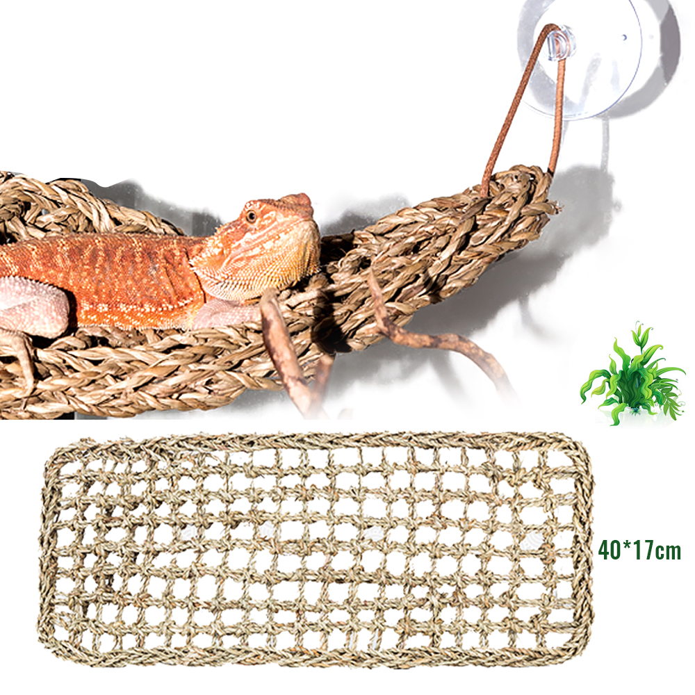 40X17cm Reptile Terrarium For Lizard Lounger Hammock Small Hermit Crabs Geckos Bed Mats Pet Reptile Mat Decor