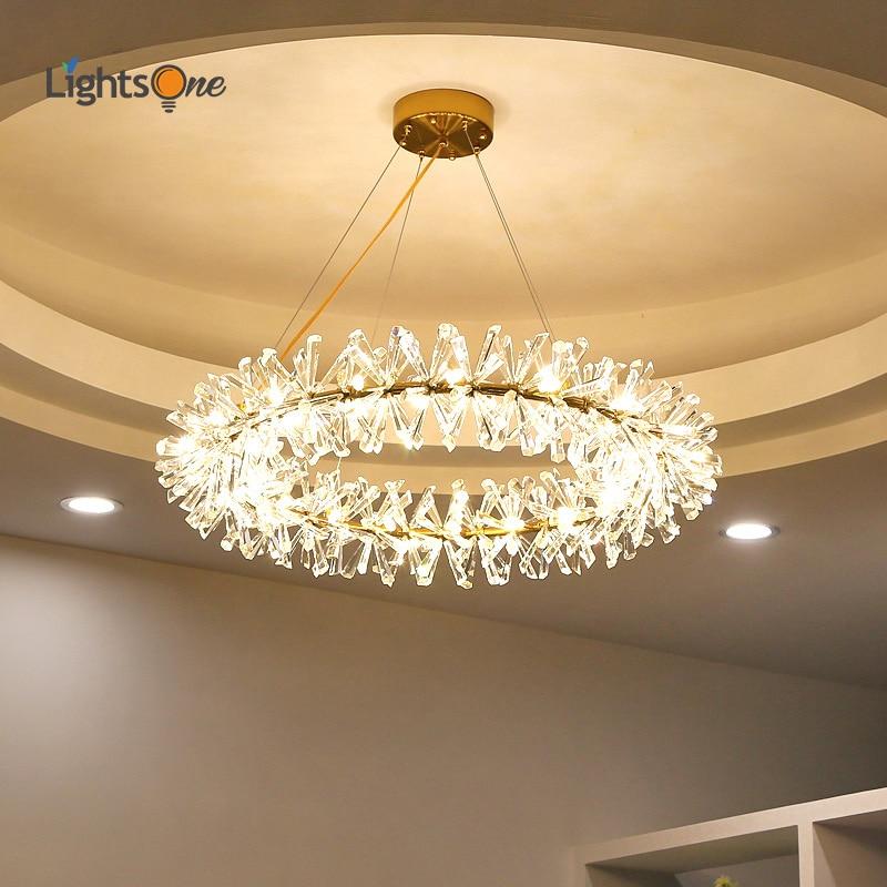 Nordic Postmodern Firefly Crystal Chandeliers Light Luxury Minimalist Living Room Dining Room Bedroom Lamps