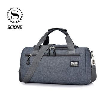 Scione Men Travel Sport Bags Light Luggage Business Cylinder Handbag Women Outdoor Duffel Weekend Crossbody Shoulder Bag Pack 1