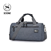 Scione Men Travel Sport Bags Light Luggage Business Cylinder
