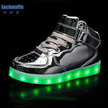 Children Shoes With Light Kids Led Shoes Luminous Glowing Sneakers Girls Antiskid Shoes Rubber Sole Soccer/Tennis shoes kids(China)