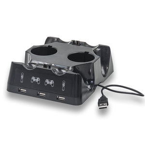 Image 3 - PS4 PS Move VR PSVR Joystick Gamepad Charger 4 in 1 Stand Controller Charging Dock Station Stand For Playstation PS4 PSVR Move