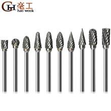 1/8 wiertła z węglika wolframu 3x6mm frezy trzpieniowe metalowe szlifowanie diamentowe frezy do drewna do wiertła