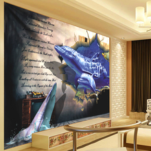 Shark Crossing Carpet 3d Tapestry Dragon Brick Wall Hanging Landscape Wall Tapestry Boho Decoration Home Decor Wall Cloth 300cm
