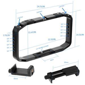 Image 2 - Handheld Camera Cage for DJI OSMO Action/YI/EKEN for Gopro 7 6 Smartphone Stand Holder Video Vlog Grip Stabilizer Rig Bracket