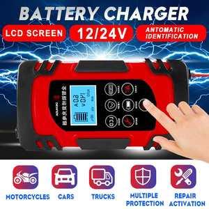 12V/24V 8A Touch Digital LCD F