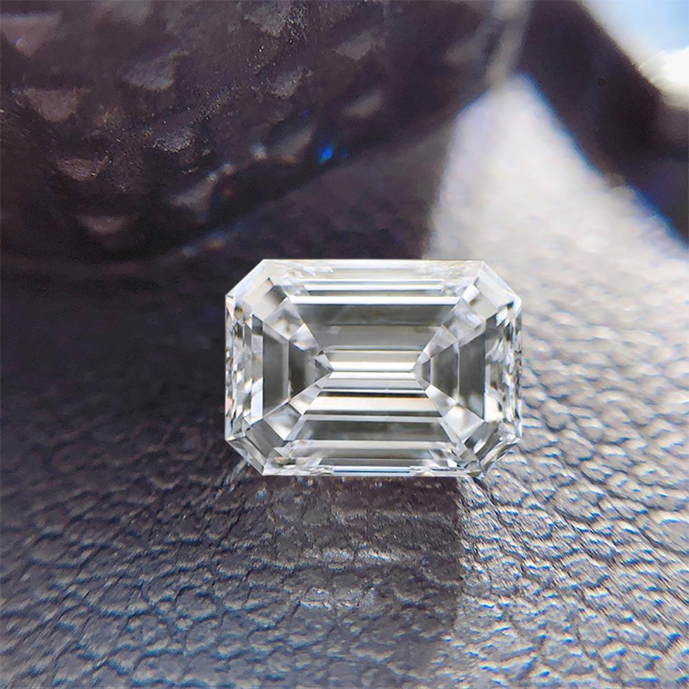 Szjinao prawdziwe 100% luźny moissanit kamień Emerald Cut 1.8ct Carat 6*8mm GRA moissanite D kolor VVS1 do biżuterii diamentowy pierścionek wykonane