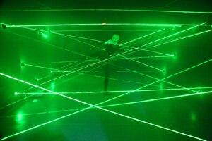 Image 4 - green blue red laser game magic penetralium escape props Real green laser array chamber secret funny laser safe maze game