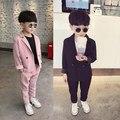 Новый осенний розовый костюм для маленьких мальчиков 3-8 лет  красный костюм с сеткой для выступлений  красивый детский костюм в Корейском ст...