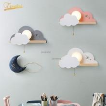 Nordic Macaron LED Glass Wall Lamps Beside Bedroom Light Fixtures Modern Children Room Cloud Wall Lamp