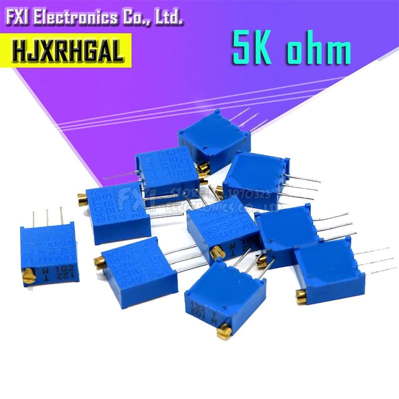 10pcs 3296W-1-502LF 3296W 5K Ohm 502 3296W-1-502 3296W-502 W502 Trimpot Trimmer Potentiometer