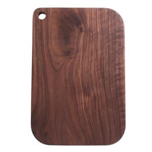 Image 5 - 검은 호두 전체 나무 부엌 단단한 나무 Rootstock Lacquerless 과일 커팅 보드 나무 커팅 보드 도마가