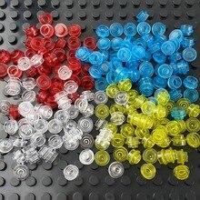500 шт. 1x1 точка Размеры DIY строительные блоки тонкий цифры лампа кирпичи креативные Развивающие игрушки для детей совместимо со всеми бренд ...