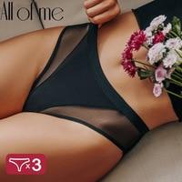 3PCS/Set Women Panties Sexy Lingerie Seamless Female Underwear See-Through Underpants Woman Panties Briefs Girls Intimate Pantys 1