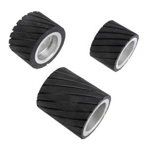 Image 4 - 70x50mm 80x50mm 70x80mm 벨트 그라인더 고무 접촉 휠 연마 샌딩 벨트 세트 연마 그라인더 샌딩 접촉 휠 벨트
