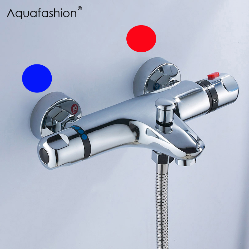 reversed inlets thermostatic bath shower faucet wall bathtub mixer thermostatic shower faucet with right for hot water