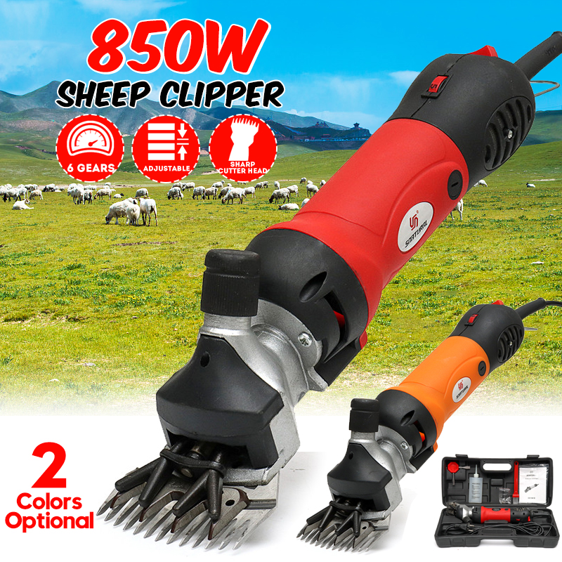 850W 220V 6 Gears Speed Electric Sheep Goat Shearing Machine Clipper Farm Shears Cutter Wool Scissor Cut Machine With Box