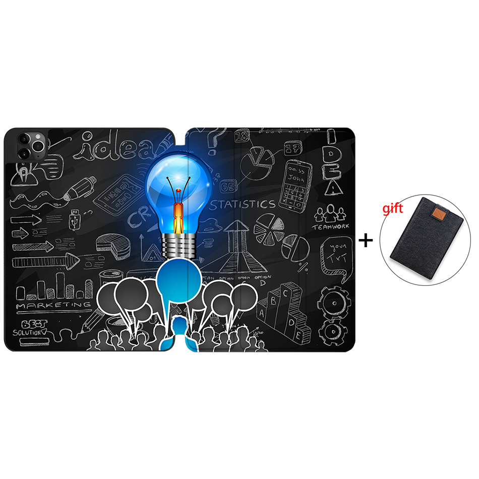 IPTPU12 Orange MTT Case For iPad 4th Gen Pro 12 9 2020 Release A2229 A2233 Soft TPU Back