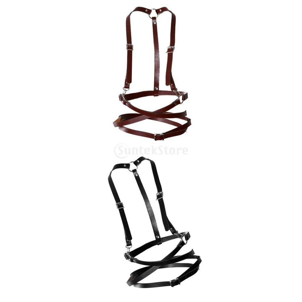 2 Pieces Belt Harness Fashion Belt Body Suspenders Women's Accessories